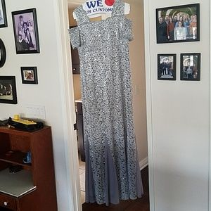 Silver/gray evening gown